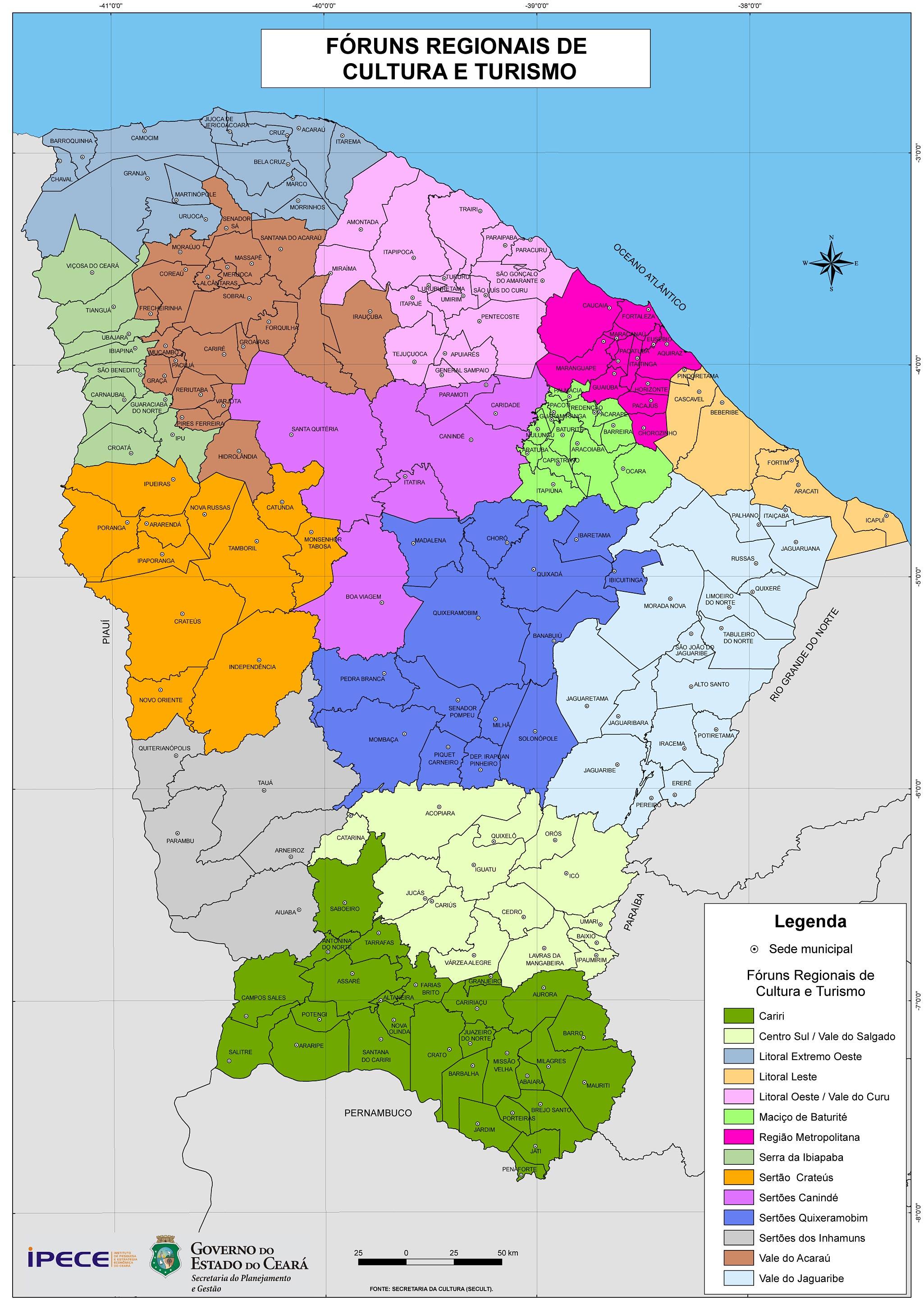 Ceará em Mapas - 1.1.6 Regionalização Proposta IPECE - 2006