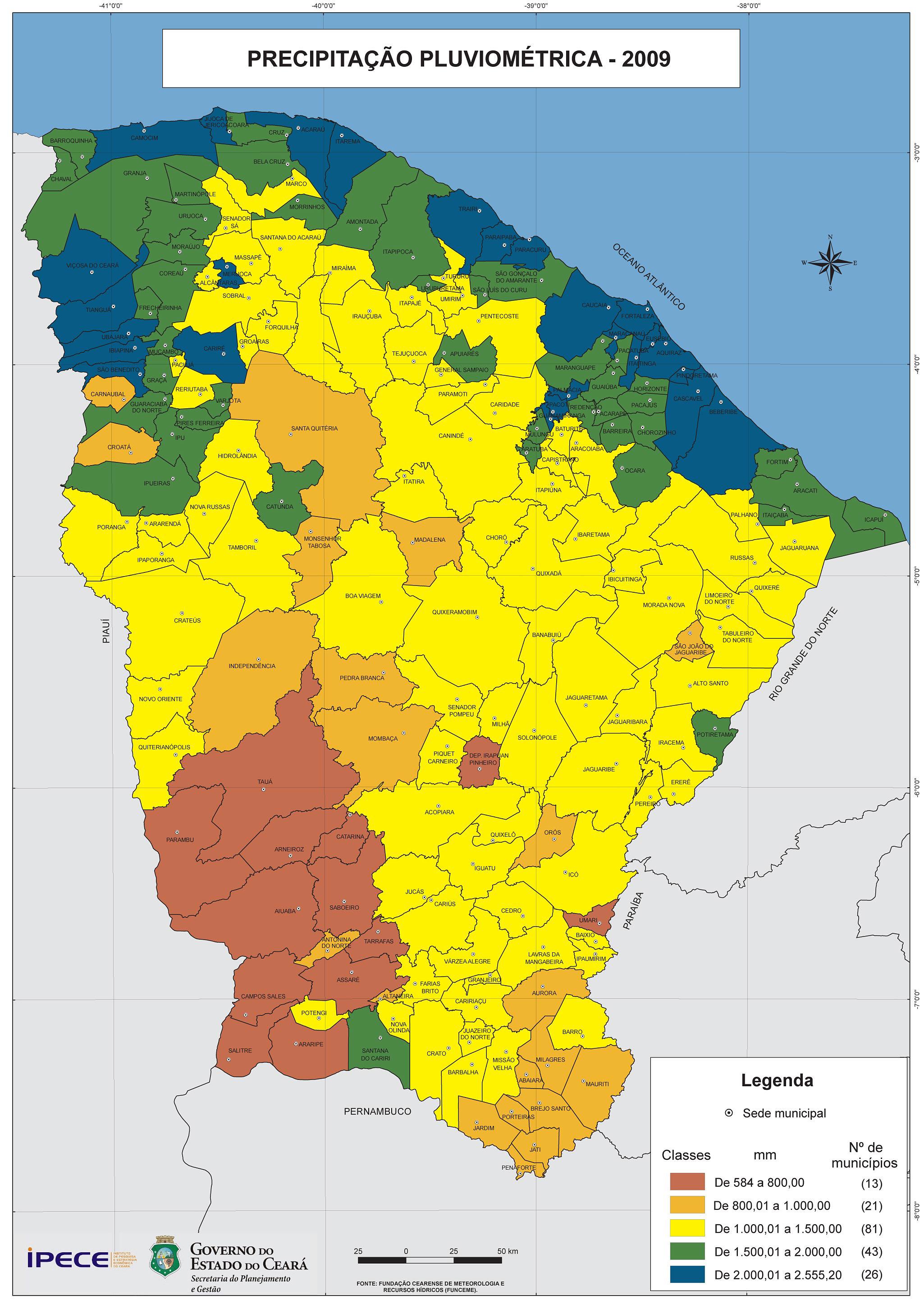 Ceará em Mapas - 1.2.9 Bacias Hidrográficas